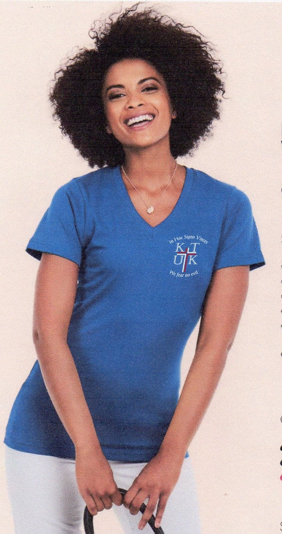 ladies classic v neck tshirt