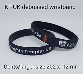 kt-uk debossed silicone wristband gents