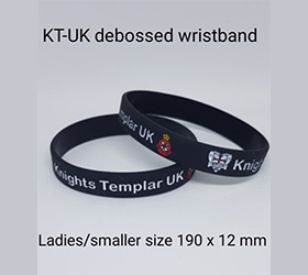 kt-uk debossed silicone wristband ladies