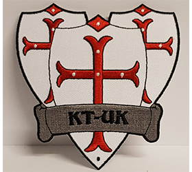 ktuk shield logo ironon patch embroidered